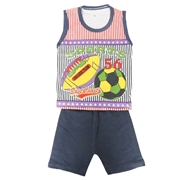 Wokstore Garments Casual Suit Sando For Kids Multi Color WG-051