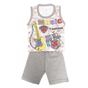 Wokstore Garments Casual Suit Sando For Kids Multi Color WG-053