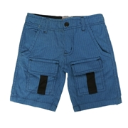Wokstore Garments Cargo Short Woven For Kids Blue