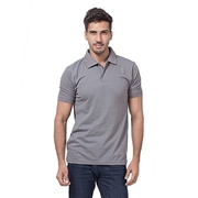Mardaz Steel Grey Poly Cotton Polo Shirt For Men