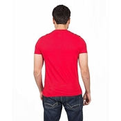 Buy Mardaz Red Cotton Flash Print Tshirt For Men  online