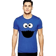 Mardaz Blue Cotton Cookie Monster Tshirt For Men