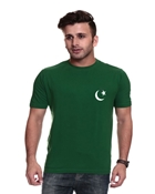 Buy Independence Day Green Flag Print T-Shirt for Men I-10  online