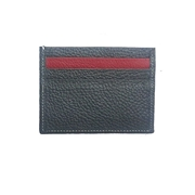 Grey Leather Card Holder