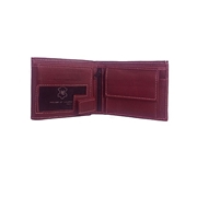 House of Leather Maroon Leather Wallet