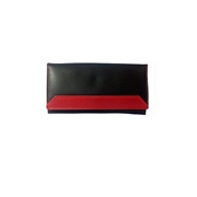 House of Leather Black & Red Women Leather Purse