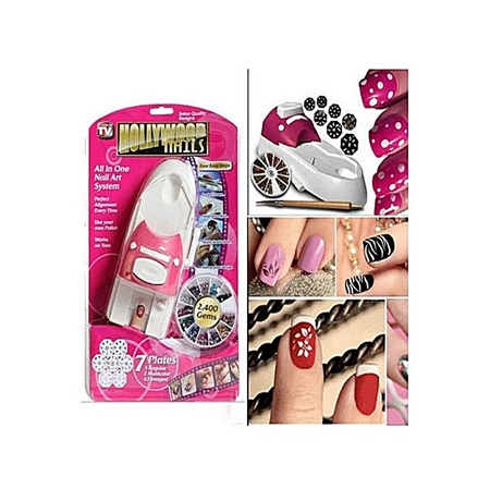 Hollywood Nail Art System White Pink Shopping In Pakistan