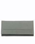 House of Leather Grey Women Leather Purse