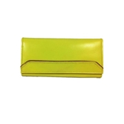 House of Leather Yellow Women Leather Purse
