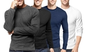 Pack of 4 Men's Heavy-Knit Thermal Shirts