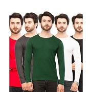 PACK OF 5 ROUND-NECK FULL SLEEVE T.SHIRTS Mens