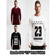 Mardaz Bundle of 3 Multicolor Cotton Tshirts for Men