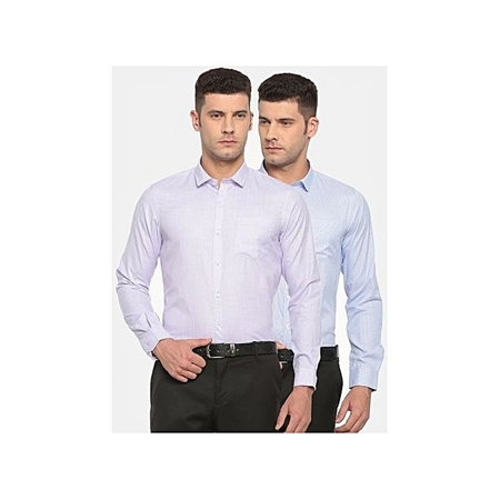 Buy Pack Of 2 Slim Fit Formal Shirts  online