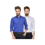 Pack Of 2 Slim Fit Solid Formal Shirt