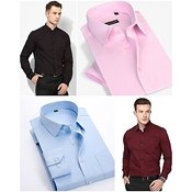Buy Pack of 4 Multicolored Formal Shirts  online