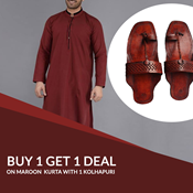 Buy Pack Of 2 Stylish Mens Kurta With kolhapuri SKU-SR-VT-006  online