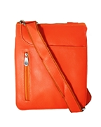House of Leather Orange  Leather Cross body bag