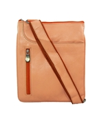 House of Leather Peach Leather Cross body bag