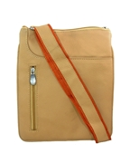 House of Leather Light Brown Leather Cross body bag