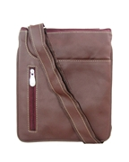 House of Leather Burgundy Leather Cross body bag