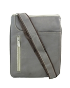House of Leather Grey Leather Cross body bag
