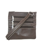 House of Leather Dark Brown Leather Mini Cross body bag