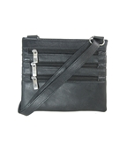 House of Leather Black Leather Mini Cross body bag