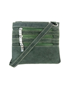 House of Leather Green Leather Mini Cross body bag