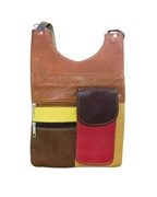 House of Leather Multi Color Leather Mini Cross body bag