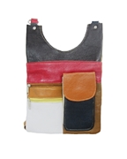House of Leather Multi Color Leather Cross body bag