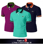 Pack Of 3 Casual Polo T-Shirt Design