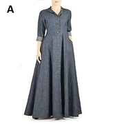Denim Frock Style Abaya for Women's