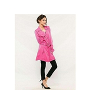 New Style Pink Fleece Coat  For Women's AA-ES-019
