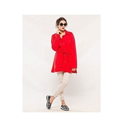 New Style Red Fleece Coat  For Women's AA-ES-020