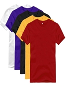 Buy Pack Of 5 - Multicolor Cotton Basic T-Shirts For Men  online