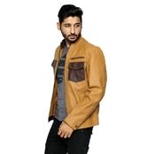 Buy Choco Brown PU Leather Jacket for Men  online