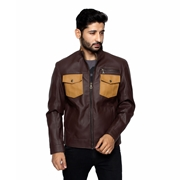 Choco Brown PU Leather Jacket for Men