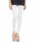 White Cotton Tights For Women T-1wh
