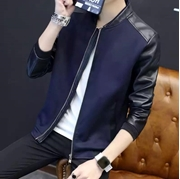 New Stylish Leather Sleeves Zipper For Men VT-SE-032