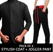 Pack of 2 stylish coat + jogger pent  vt-bF-016