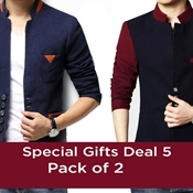 Buy Pack of 2 Fleece Men Winter Coat  online