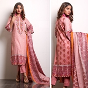 Buy Unstitched Printed Cotton with Lawn Dupatta for Women By Misha Design MD-SF-00133  online