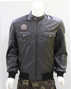 Black PU Leather Jacket for Men