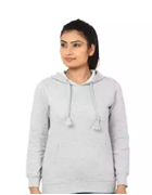 Grey Pullover Hoodie for Women