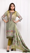 Unstitched Printed Cotton with Lawn Dupatta for Women By Misha Design MD-SF-00149