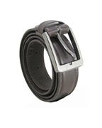 House of Leather Brown Double Stitched Formal Belt