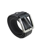 House of Leather Black Double Stitched Formal Belt