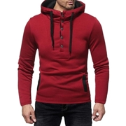 Stylish Button Style Hoodie Ne-4 For Men