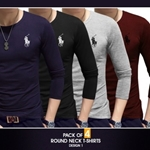 Bundle Of 4 Full Sleeves T-Shirts For Men Design Ne-021