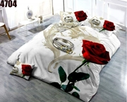 King Size Bedsheet with 2 Pillows (4704)